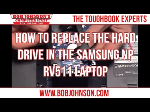 How to replace the Hard drive in the Samsung NP RV511 Laptop