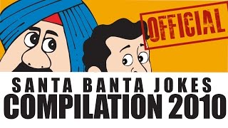 Official Santa Banta Funny Video Collection 2010 | Comedy Jokes in Hindi