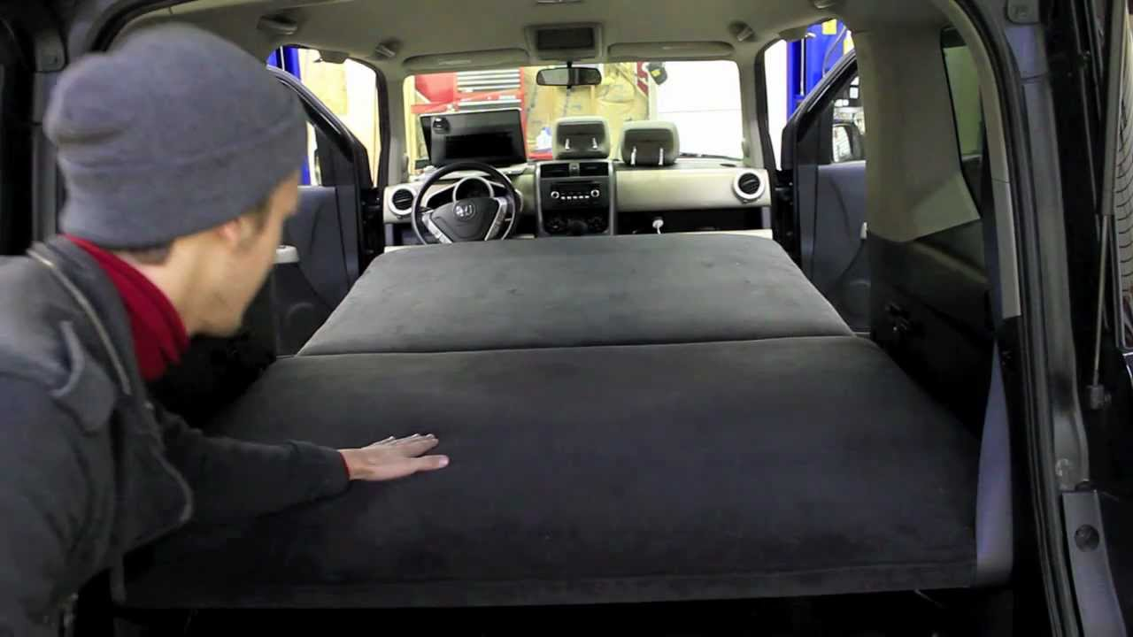 Honda Element Custom Bed for Car Camping - YouTube