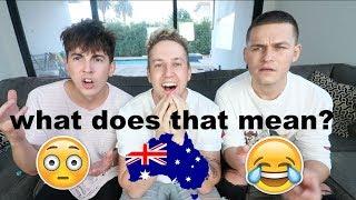 Americans Guessing Australian Slang Ft Bobby Mares & JRMun0z
