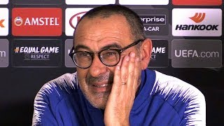 Chelsea 4-0 PAOK - Maurizio Sarri Post Match Press Conference - Europa League