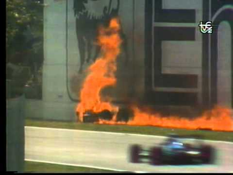 Accidente Gerhard Berger GP Imola 1989 Formula 1 TVE