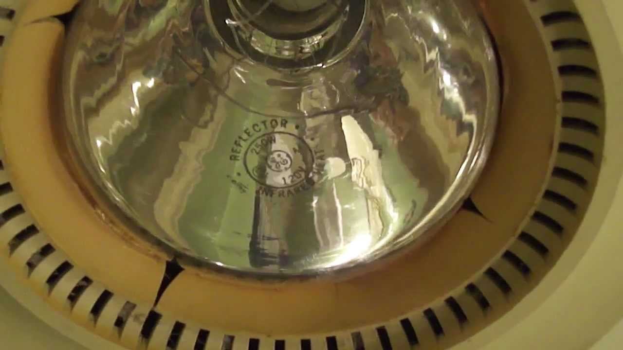 Vintage Nutone Heatlamp Bathroom Fan Youtube