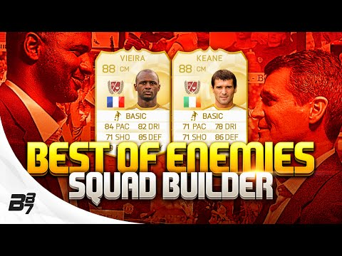 FIFA 15 | BEST OF ENEMIES SQUAD BUILDER w/ ROY KEANE And VIEIRA