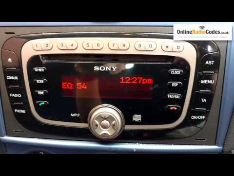 How To Find Ford Radio Code Serial From The Radio's Display - Sony/Visteon