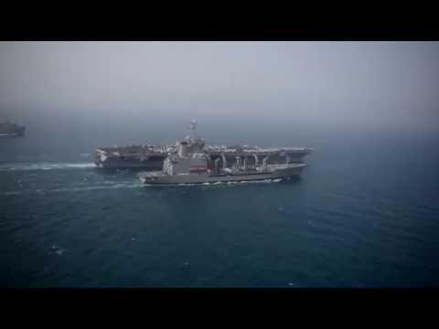 USS Harry S. Truman (CVN 75) replenishment at sea