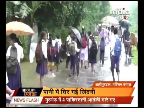 West Bengal flooded with water due to heavy rain