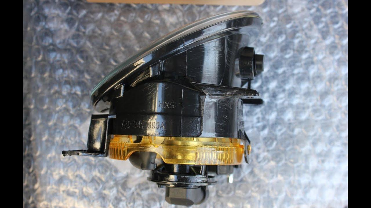 Комплект противотуманных фар с кнопкой для фольксваген транспортер т5 (2003-2009), поло 2007-2009