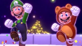 Super Mario 3D World Co-op Walkthrough - World Crown / Champions Road (All Green Stars & Stamps)