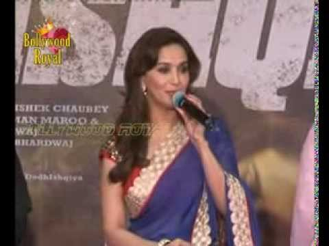 Madhuri Dixit Along With Cast & Crew At The Music Launch Of 'dedh Ishqiya' 1 video