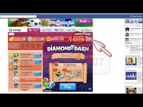 Diamond Dash- Facebook GET FREE LIVES (Wooga)-Facebook game Hack