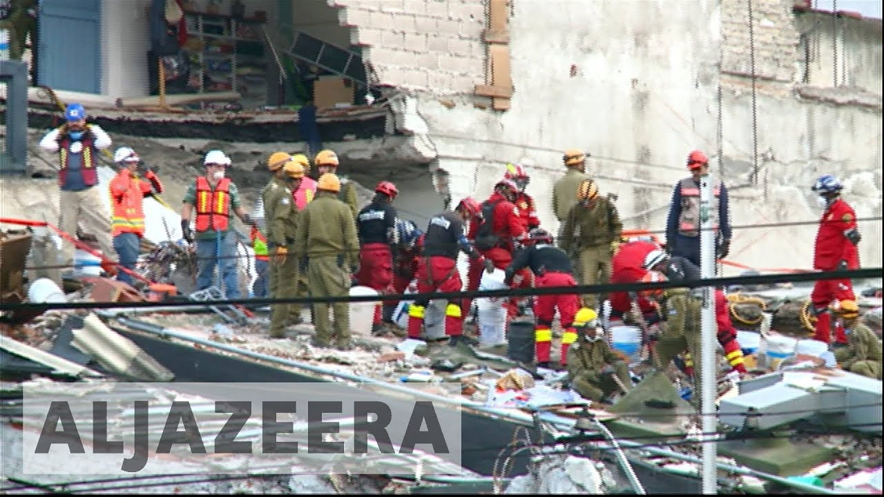 Mexico continues search for survivors after earthquake