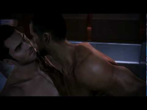 Mass Effect 3 - Male Shepard x Kaidan romance. Sex scene HD. MAJOR SPOILERS WARNING