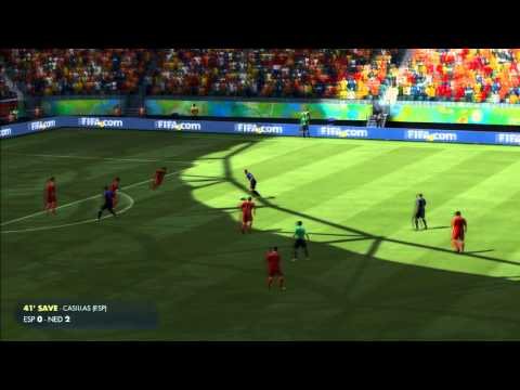 2014 FIFA World Cup Brazil Simulation - Match 3 - Spain vs Netherlands Group Stage