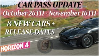 Forza Horizon 4 New Cars! Car Pass Update October 2018 Forza Horizon 4 Car Pass Cars FH4 Car Pass