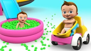 Learn Colors for Children Toddlers Kids 3D Baby Truck Slider Color Balls Educational Learning Videos