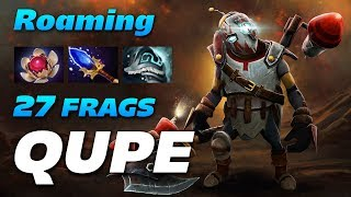 Qupe Clockwerk Roaming 27 KILLS Not Enough.. | Dota 2 Pro Gameplay