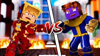 KIT DO HOMEM DE FERRO VS KIT DO THANOS NO MINECRAFT !