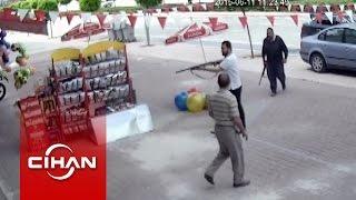 Silahlı kavga güvenlik kamerasında
