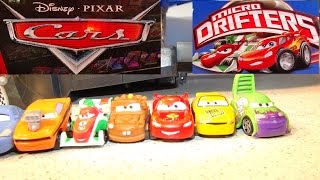 Pixar Cars Micro Drifter RaceCar Set Unboxing and Assembly