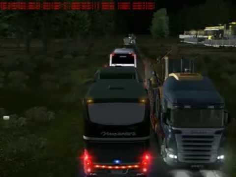 UK Truck Simulator - Nusantara black pearl vs po.Sahabat(gak mau ngalah).