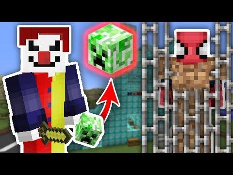 ZENGİN VS FAKİR ÖRÜMCEK ADAM #43 - Katil Palyaço Fakir'i Yakaladı (Minecraft)
