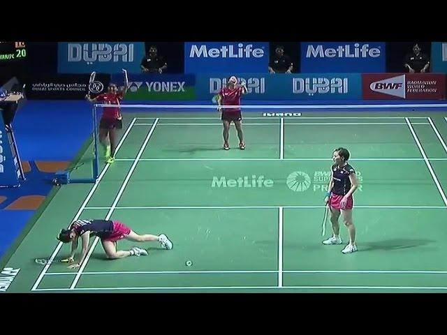 WD - Reika KAK/Miyuki MAE vs Nitya Krishinda MAH/Grsia POLII Destination Dubai 2014: Day 1 - Match 3
