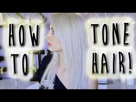 How I Tone My Hair Platinum - White   Brittany Balyn