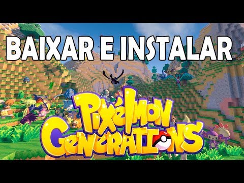 MINECRAFT - COMO BAIXAR E INSTALAR MOD PIXELMON GENERATIONS 1.4.1!!! ATUALIZADO