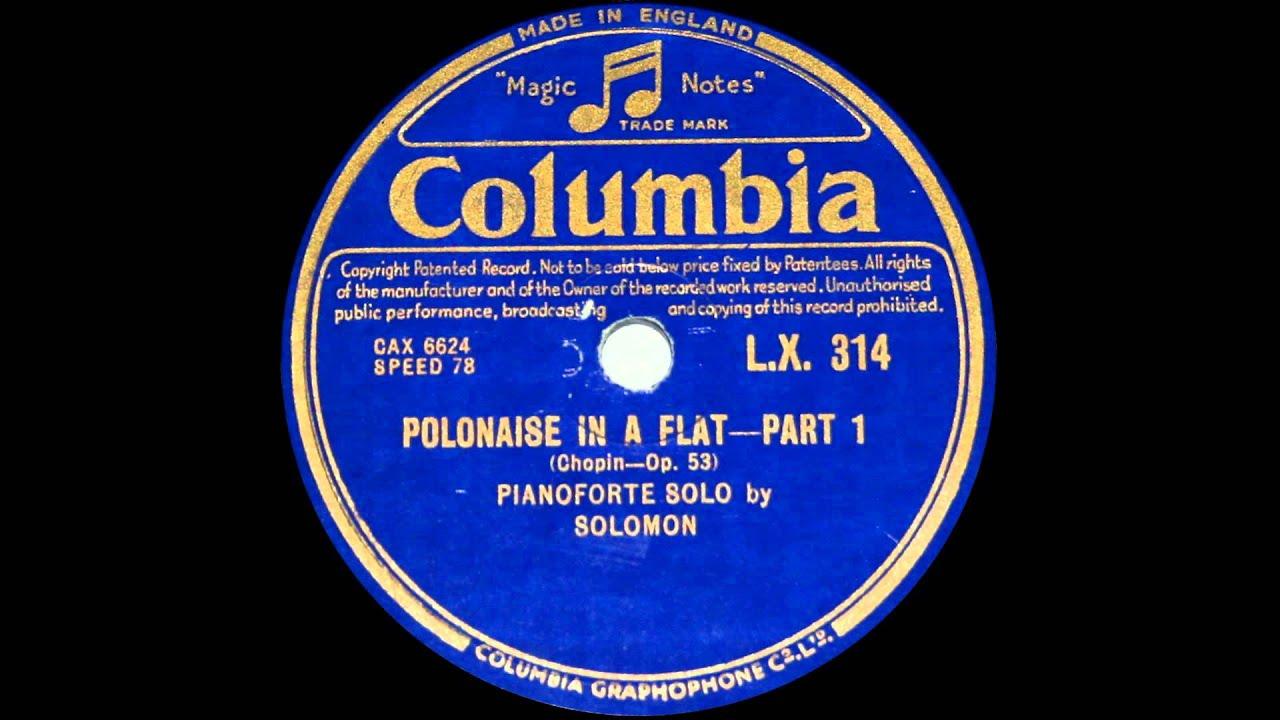 Polonaise f Major Polonaise a Flat Major