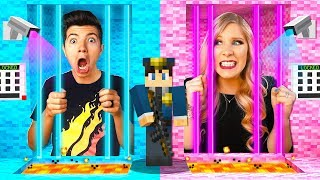 Boy vs. Girl Prison Escape Challenge (MCPE)