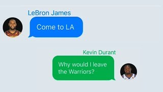 LeBron James Texting Kevin Durant About Joining Lakers (Parody)