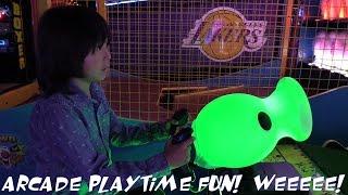 Indoor Amusement Arcade Games Playtime Fun with Hulyan & Maya PART 1