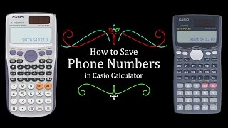 How to Save Phone Numbers in Casio Calculator FX-991ES Plus | FX-991MS