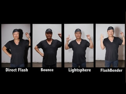 Flash Diffuser Test - Gary Fong Lightsphere vs Rogue Flashbender