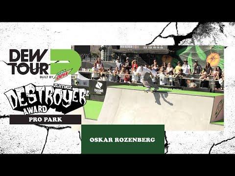 Oskar Rosenberg Pro Bowl Zumiez Destroyer Award Dew Tour Long Beach 2018