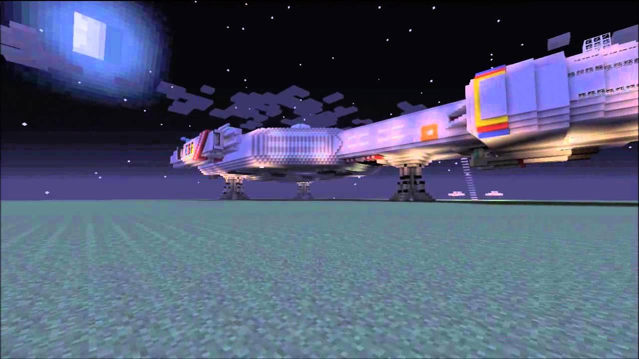 Minecraft Spaceship Awesome Mine Craft Star Cruiser On