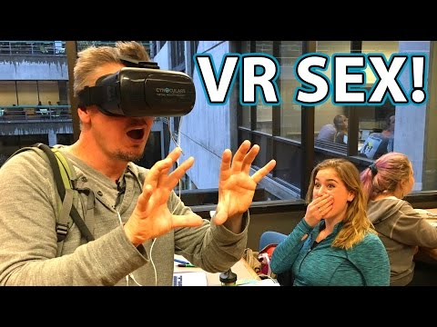 Virtual Reality SEX Prank in Library!!