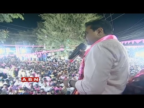 Minister KTR Speech | Road Show in Hyderabad | Telangana Elections 2018 | ABN LIVE