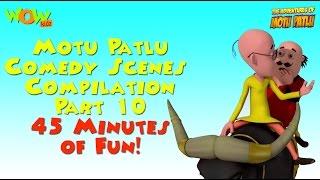 Motu Patlu Comedy Scenes - Compilation Part 10 -  45 Minutes of Fun! As seen on Nickelodeon