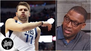 'I love this kid' - Tracy McGrady blown away by Luka Doncic's heroics in Mavs vs. Blazers | The Jump