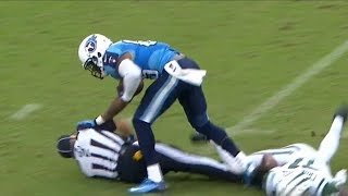 NFL Referees Getting Hit Compilation