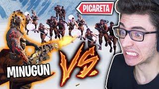 FLAKES ARMADO VS 99 JOGADORES DE PICARETA NO FORTNITE!