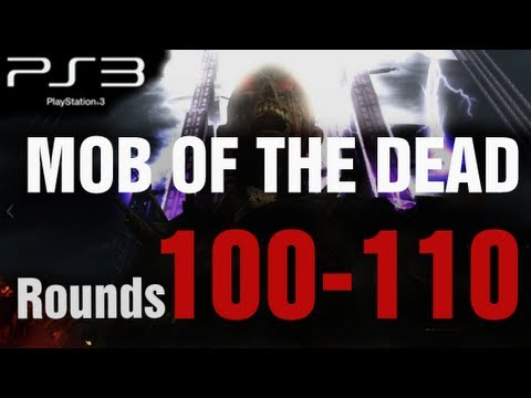 Mob of the Dead PS3 Rounds 100-110 Solo Strategy Gameplay - Black Ops 2 Zombies by TheRelaxingEnd