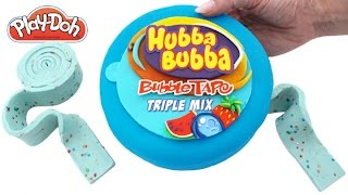 Play Doh How to Make a Giant Blue Hubba Bubba with Play Doh DIY RainbowLearning