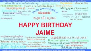 Jaime   Languages Idiomas - Happy Birthday