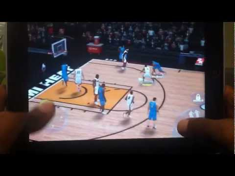 How to use The Alley-Oop button  for NBA2K13 for IPad/iPhone/iPod Pt 1/2