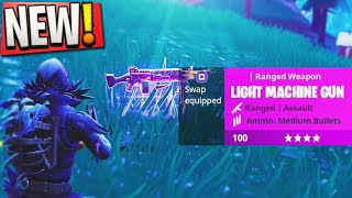 "NEW ""LMG"" is OVERPOWERED! 😱- Fortnite ""Light Machine Gun"" Victory Royale! (New Fortnite Update)"
