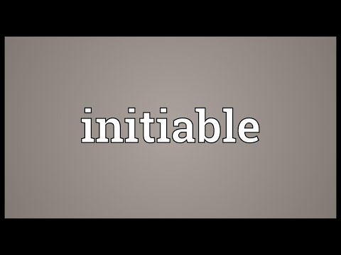 Header of Initiable