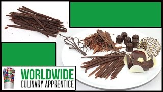Chocolate Garnishes - Chocolate Decorations - Pastry Plating - How to Recipe - Pastry Classes